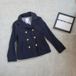 J. Crew Navy Double Button Jacket Blazer